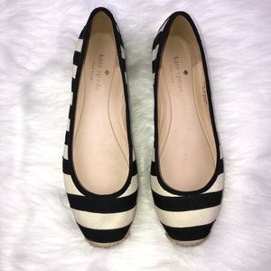 Kate Spade Sz 6.5 Stripe espadrille Flats Shoes